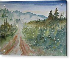 Road Through The Hills Acrylic Print by Ramona Kraemer-Dobson