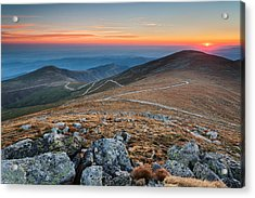 Road To Sunrise Acrylic Print by Evgeni Dinev