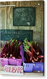 Roadside Produce Stand Rhubarb Acrylic Print by Denise Lett