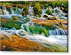 Roaring Rapids Acrylic Print by Joshua Dwyer