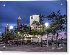Rock And Roll Plaza Acrylic Print by David Bearden