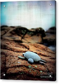 Rock Art Acrylic Print by Perry Webster
