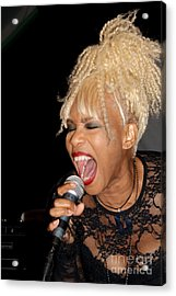 Rock Star Baby Jean Kennedy Of Mother's Finest Acrylic Print by Benanne Stiens