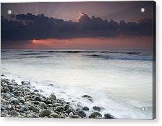 Rocky Beach At Sunrise Hawf Protected Acrylic Print by Sebastian Kennerknecht