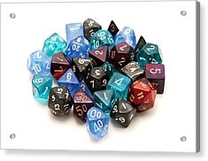 Role-playing Dices Acrylic Print by Fabrizio Troiani