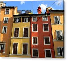 Roman Homes Acrylic Print by Stellina Giannitsi