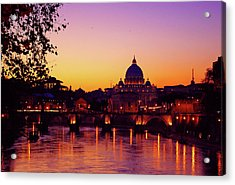 Roman Sunset Acrylic Print by Karl Borg