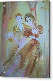 Romantic Encounter Acrylic Print by Judith Desrosiers