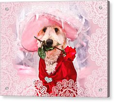 Romantic Kati Acrylic Print by Trudy Wilkerson