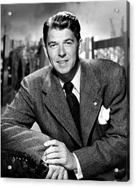 Ronald Reagan, From Shes Working Her Acrylic Print by Everett