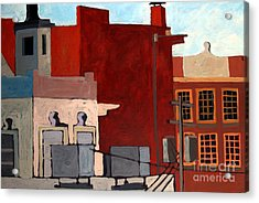 Rooftops Acrylic Print by Charlie Spear