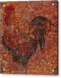 Rooster 4 Large Acrylic Print by Rosie Phillips
