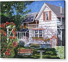 Rosa's Garden Acrylic Print by Paul Gardner