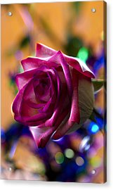 Rose Celebration Acrylic Print by Bill Tiepelman