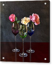Rose Colored Glasses Acrylic Print by Peter Chilelli