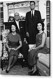 Rose Kennedy, Joseph P. Kennedy, John Acrylic Print by Everett