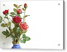 Roses Bouquet Acrylic Print by Carlos Caetano
