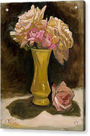 Roses From A Friend Acrylic Print by Billie Colson