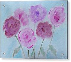 Roses Acrylic Print by Heidi Smith