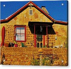 Round Rock House Acrylic Print by Sharon Farris