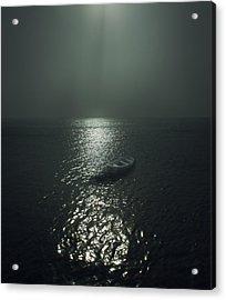 Row Boat Acrylic Print by James Ingham