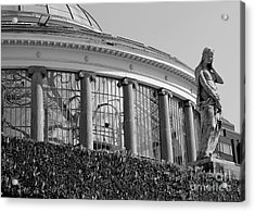 Royal Conservatory In Brussels - Black And White Acrylic Print by Carol Groenen