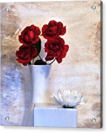 Royalty Roses Acrylic Print by Marsha Heiken