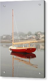 Ruby Red Catboat Acrylic Print by Roupen  Baker
