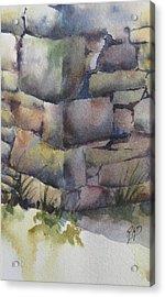 Ruins Acrylic Print by Ramona Kraemer-Dobson