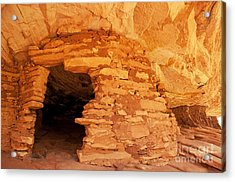 Ruins Structure Acrylic Print by Bob and Nancy Kendrick