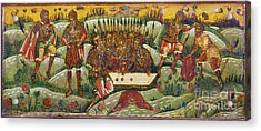 Russian Icon: Dice Players Acrylic Print by Granger