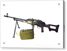 Russian Pkm General-purpose Machine Gun Acrylic Print by Andrew Chittock