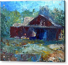 Rustic Barn Acrylic Print by Claire Bull
