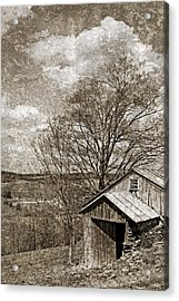 Rustic Hillside Barn Acrylic Print by John Stephens