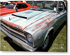 Rusty 1965 Plymouth Satellite . 5d16631 Acrylic Print by Wingsdomain Art and Photography