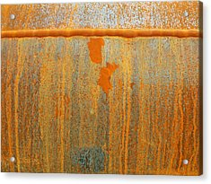 Rusty Lines I Acrylic Print by Anna Villarreal Garbis