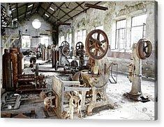 Rusty Machinery Acrylic Print by Carlos Caetano