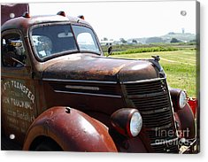 Rusty Old 1935 International Truck . 7d15509 Acrylic Print by Wingsdomain Art and Photography