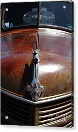 Rusty Old 1935 International Truck Hood Ornament. 7d15504 Acrylic Print by Wingsdomain Art and Photography