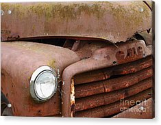 Rusty Old Gmc Truck . 7d8403 Acrylic Print by Wingsdomain Art and Photography