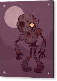 Rusty Zombie Robot Acrylic Print by John Schwegel
