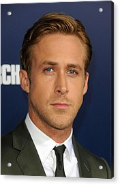 Ryan Gosling At Arrivals For The Ides Acrylic Print by Everett