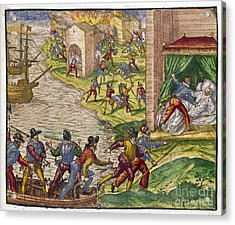 Sack Of Cartagena, C1544 Acrylic Print by Granger