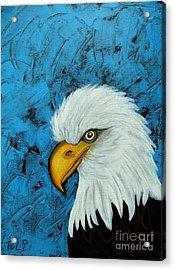 Sacred Bald Eagle Acrylic Print by Claudia Tuli
