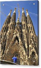 Sagrada Familia Barcelona Spain Acrylic Print by Matthias Hauser