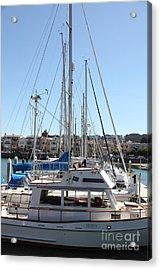 Sail Boats At The San Francisco Marina - 5d18189 Acrylic Print by Wingsdomain Art and Photography