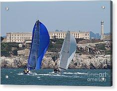 Sail Boats On The San Francisco Bay - 7d18360 Acrylic Print by Wingsdomain Art and Photography