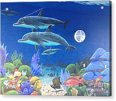 Sailfish Splash Park 2 Acrylic Print by Carey Chen