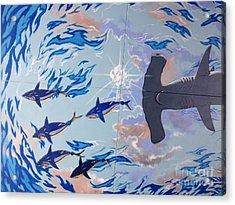 Sailfish Splash Park Mural 8 Acrylic Print by Carey Chen