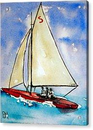 Sailin Acrylic Print by Pete Maier